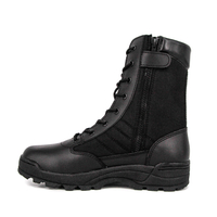UK police zip military toe tactical boots 4252