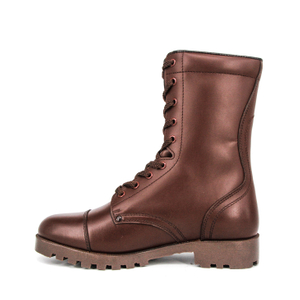 Red brown cheap vintage military Australia full leather boots 6259