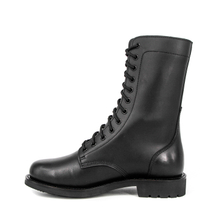 Men's army black genuine leather boots 6276
