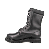 High gloss custom length Japanese military full leather boots 6272