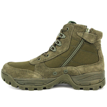 Suede green army desert boots 7102