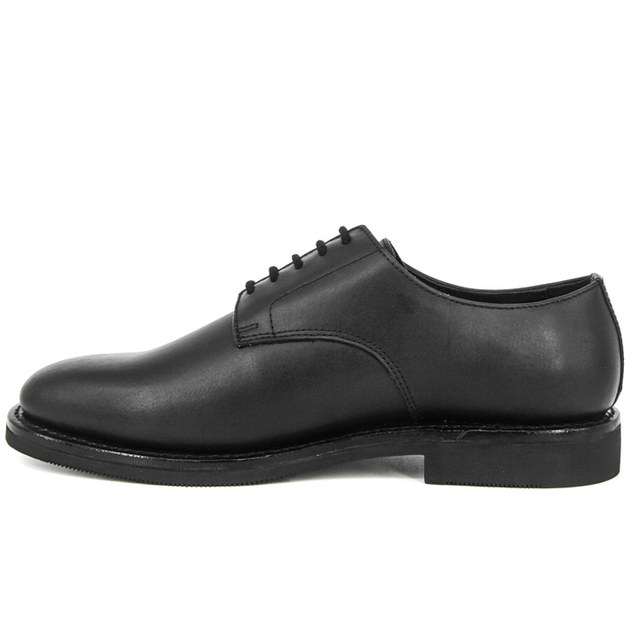Comfortable black leather office shoes 1207