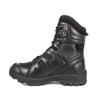 Wholesale black leather military tactical boots 4277