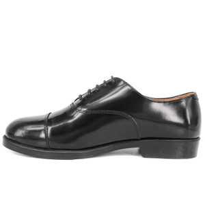 Military men top quality black leather office shoes 1253