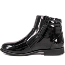 Youth shiny high gloss military office shoes 1283