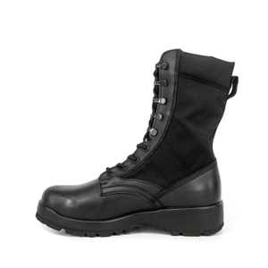 High quality black color leather tactical jungle boots 5229