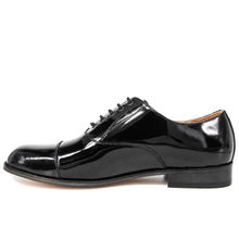 Police smooth patent leather men formal office shoes 1250