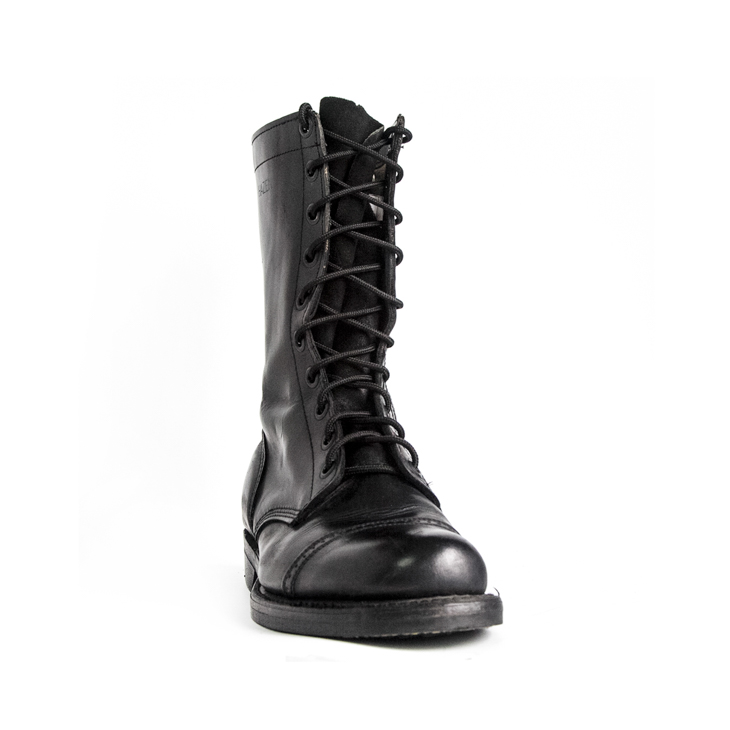 France Kenya shiny army military combat full leather boots 6232
