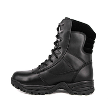 Supply military good price black combat full leather boots 6227