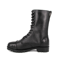 Embossed France work length full leather boots 6251
