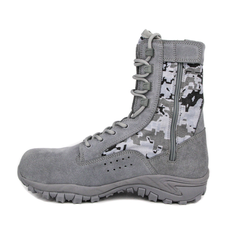 Grey toe zipper military jungle boots 5239