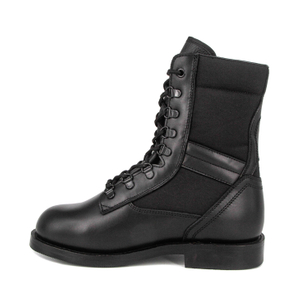 Men's black rubber sole UK tactical boots 4208